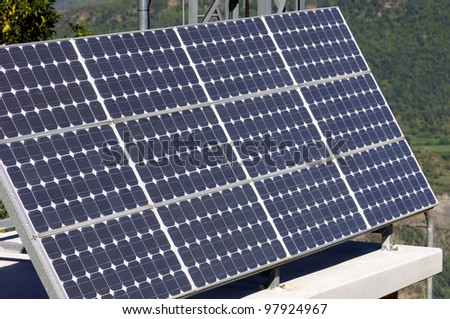 small photovoltaic panel for electric energy production