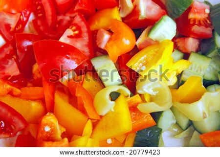small pieces of vegetable