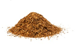 small pile of tobacco shag isolated on white background