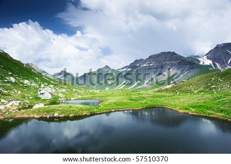 Small pond at Greina valley, Tessin, Switzerland