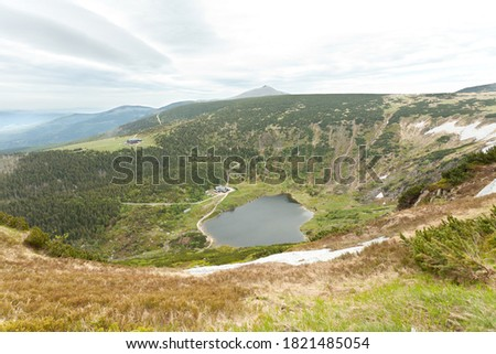 Small Pond cirque (kocioł Malego Stawu) in Giant Mountains (Karkonosze). This file is cleaned and retouched. Zdjęcia stock ©