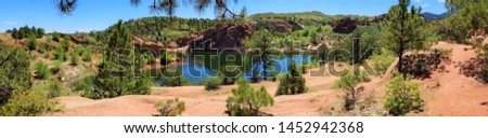 Small reservoir in Red Rock Canyon near Colorado Springs Colorado #1452942368