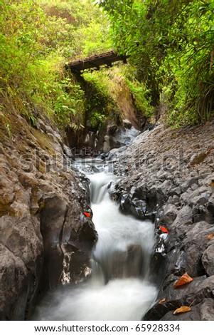 Small river on Tungurahua volcano slope