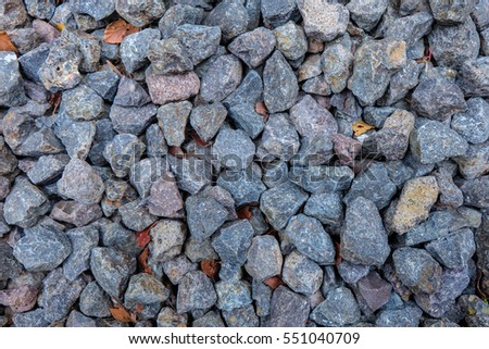 Small rock and dark stone, building materials, texture background #551040709