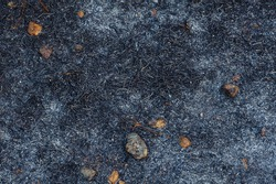 Small rock ash after grass burn backkground