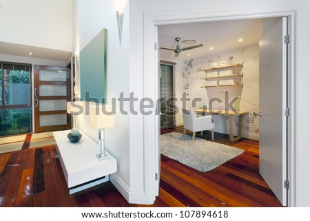 Small room and entrance in stylish home