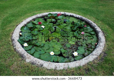 450px for Small round pond
