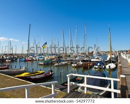 Small Rural Harbor in Marken Village, nearby Amsterdam #54297772