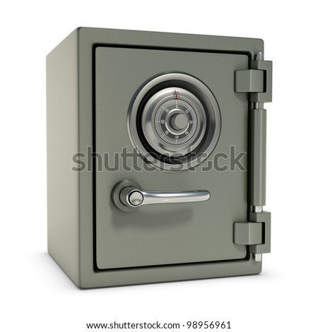 Small safe with password security. Design concept in 3D image.