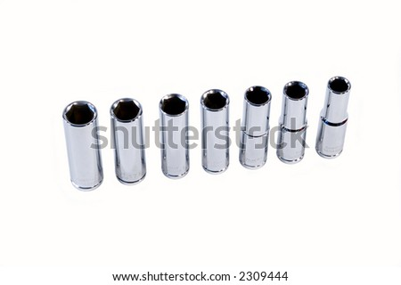 Small set of Sockets for tightening nuts