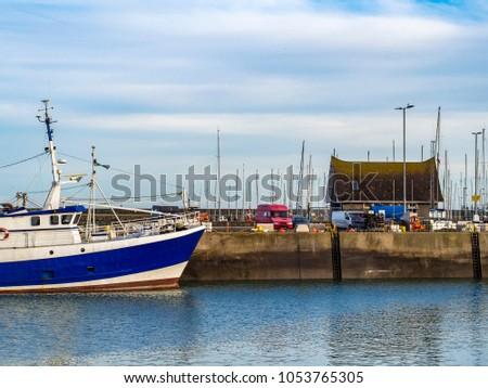 Small ship at berth. Ireland #1053765305