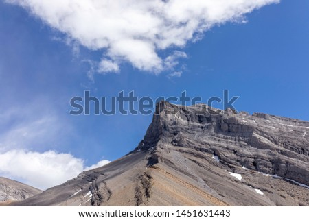 """Small Sister Peak called """"Hope"""", which is part of Three Sisters Peaks in Rocky Mountains, Alberta, Canada"""