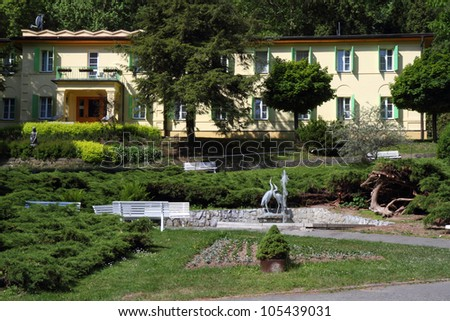 Small spa with mineral springs in Teplice nad Becvou (Czech republic)