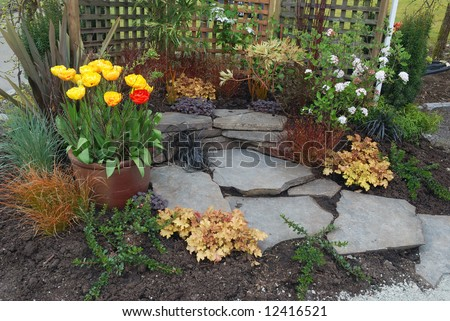 Small Space Patio Garden Design Stock Photo 12416521 : Shutterstock