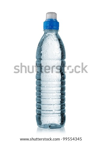 Small sport water bottle with drops