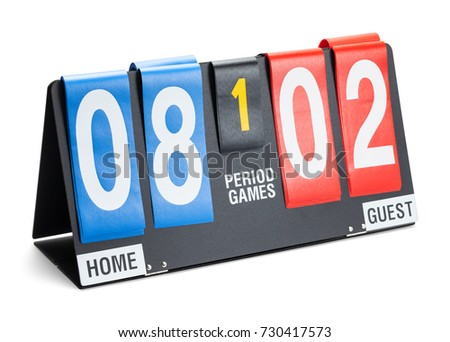 Small Sports Score Board Isolated on a White Background. #730417573