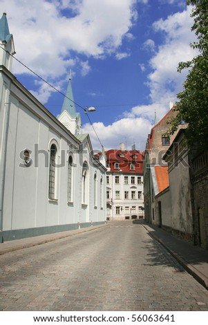 small street in old Riga