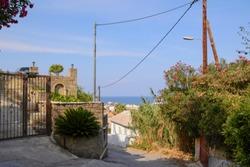 small street on Zakynthos island (Greece)
