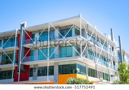 small suburban office building #517751491