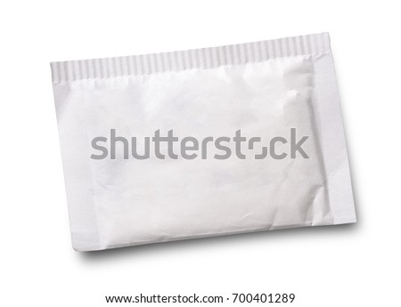 Small sugar packet isolated on white  - Shutterstock ID 700401289