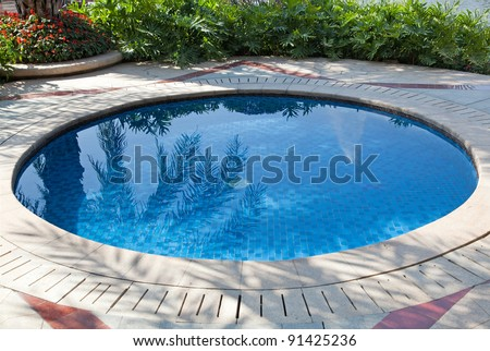 Small swimming pool in a yard