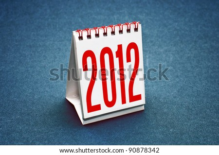 Small table calendar for the year 2012.