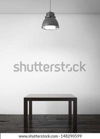 Small table in interior