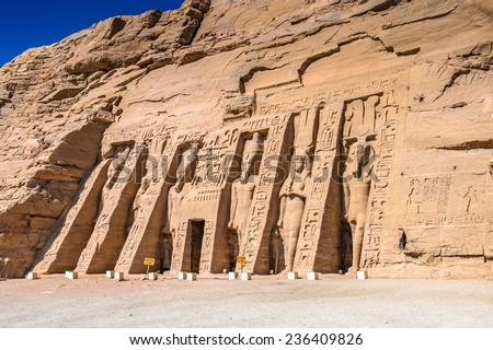 Small Temple of Nefertari, Abu Simbel, Egypt #236409826