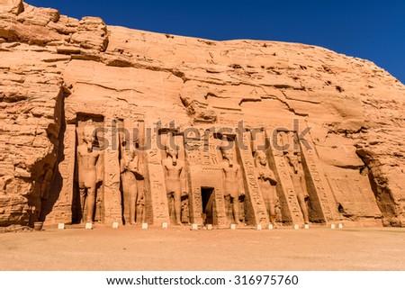Small Temple of Nefertari, Abu Simbel, Egypt #316975760