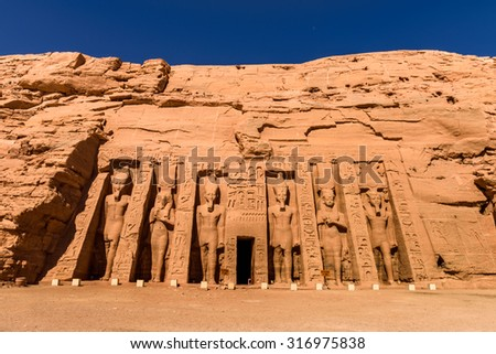 Small Temple of Nefertari, Abu Simbel, Egypt #316975838