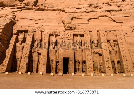 Small Temple of Nefertari, Abu Simbel, Egypt #316975871