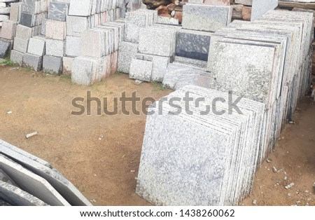 Small tiles in granite stone #1438260062