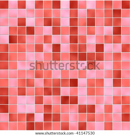 Small Tiles Texture In Different Shades Of Red Stock Photo