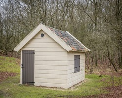 small tool shed in a Dutch nature park