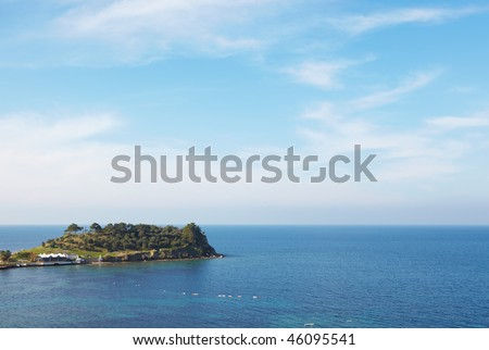 Small tourist island just outside the Kusadasi harbor, on the Aegean coast of Turkey.
