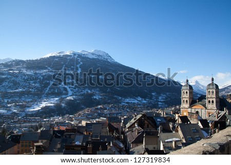Small town in Alpes