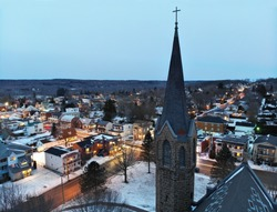 Small Town in Quebec in Winter