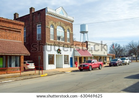 Small Town Main Street USA Midwest buildings downtown