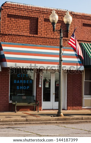 small town old barber shop