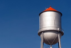 Small Town Water Tower Utility Infrastructure Storage Reservoir