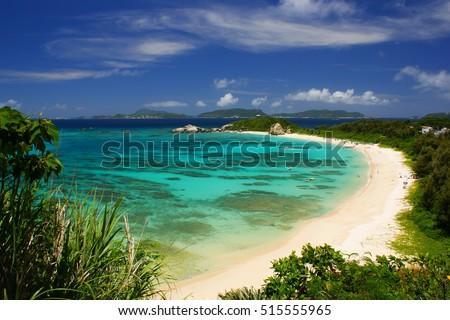 Small tropical beautiful   island Okinawa tropical beach  #515555965