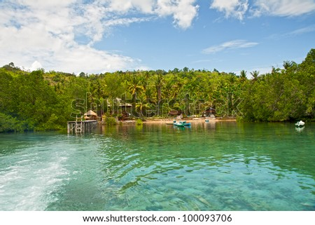 Small tropical island in Indian ocean