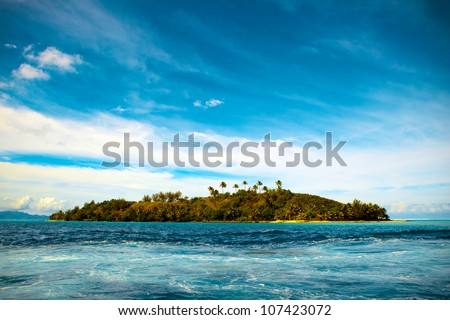 Small tropical island in the Bora