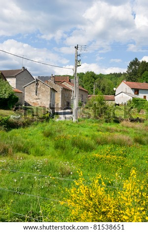 Small typical hamlet in the Haute Vienne in France