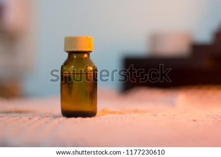 small vial with aromatic essence, vial of aromatic essence. #1177230610