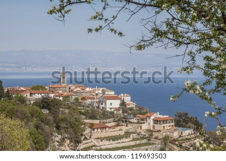 Small village in the Kvarner bay in Istria