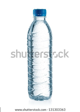 Small water bottle with drops