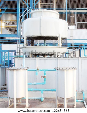 small water cooling tower system in factory