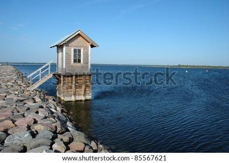 small water measure house in Orjaku, Kassari, Hiiumaa, Estonia