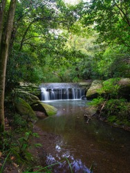 Small waterfall at Terry's Creek, Epping, Sydney, Australia.